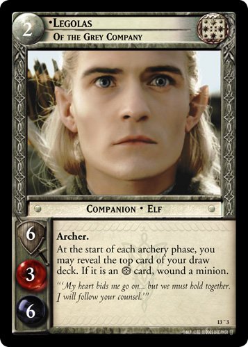Legolas, Of the Grey Company (O) (13O3) Card Image