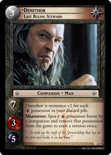 Denethor, Last Ruling Steward (O) (13O7) Card Image
