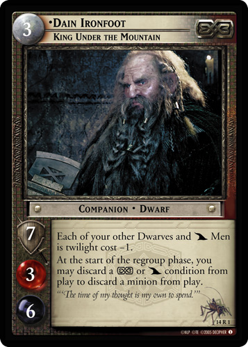 Dain Ironfoot, King Under the Mountain (14R1) Card Image
