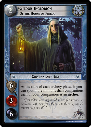 Gildor Inglorion, of the House of Finrod (14R4) Card Image