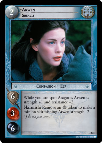 Arwen, She-Elf (15R11) Card Image