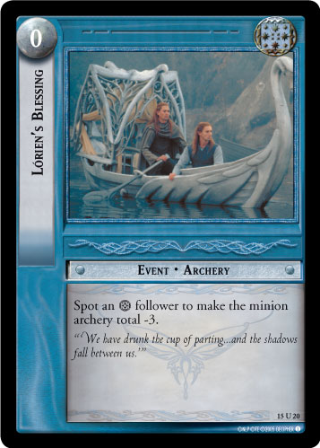 Lorien's Blessing (15U20) Card Image