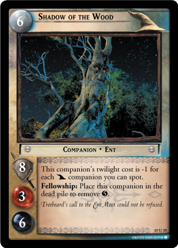 Shadow of the Wood (15U35) Card Image