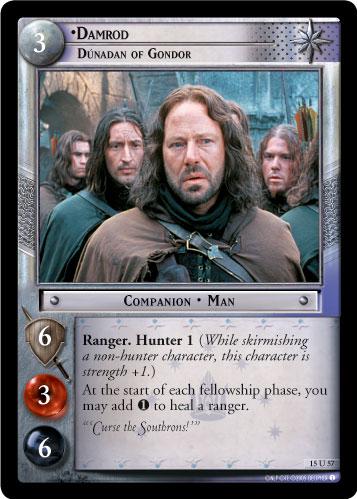 Lotr Tcg Wiki Damrod Dunadan Of Gondor 15u57