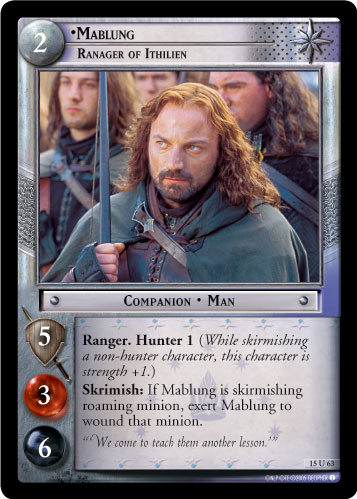 Mablung, Ranger of Ithilien (15U63) Card Image
