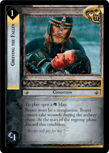 Grieving the Fallen (15U81) Card Image