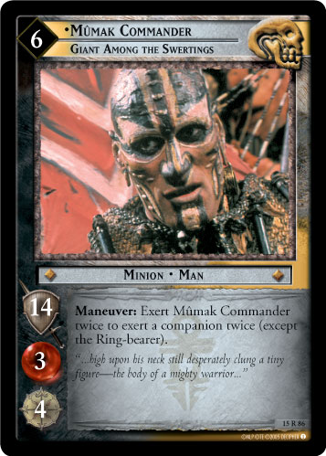 Mumak Commander, Giant Among the Swertings (15R86) Card Image