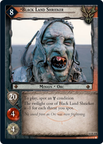 Black Land Shrieker (15R104) Card Image