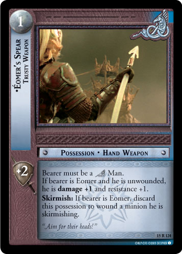 Eomer's Spear, Trusty Weapon (15R124) Card Image