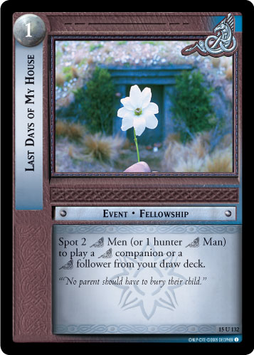 Last Days of My House (15U132) Card Image