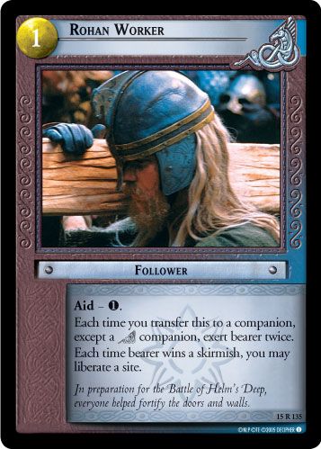 Rohan Worker (15R135) Card Image