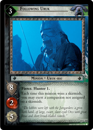 Following Uruk (15U160) Card Image