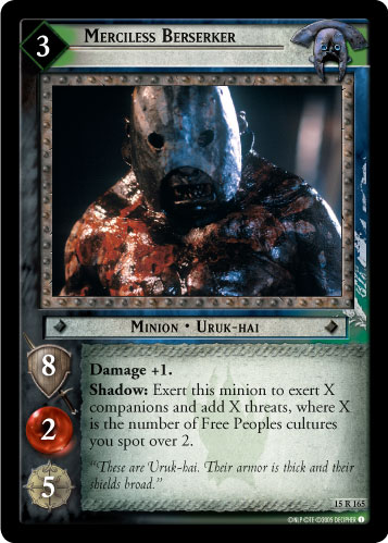 Merciless Berserker (15R165) Card Image