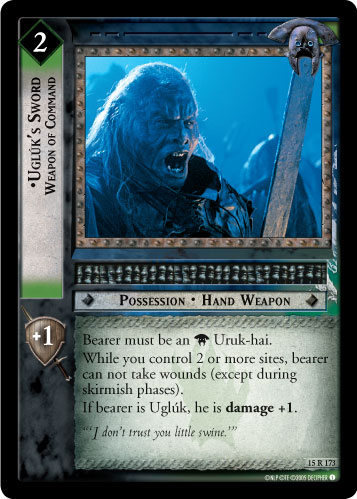 Ugluk's Sword, Weapon of Command (15R173) Card Image