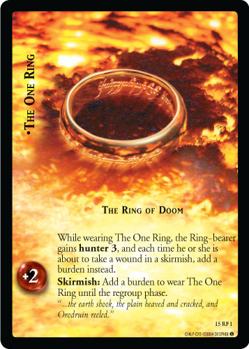 The One Ring, The Ring of Doom (F) (15RF1) Card Image