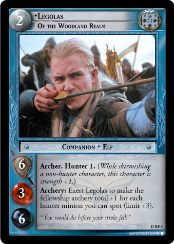 Legolas, of the Woodland Realm (F) (15RF3) Card Image