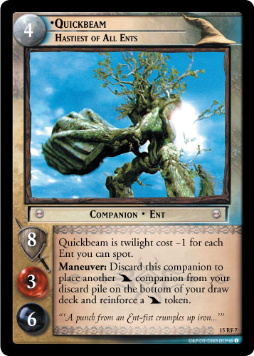 Quickbeam, Hastiest of All Ents (F) (15RF7) Card Image