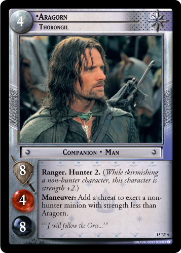 Aragorn, Thorongil (F) (15RF9) Card Image