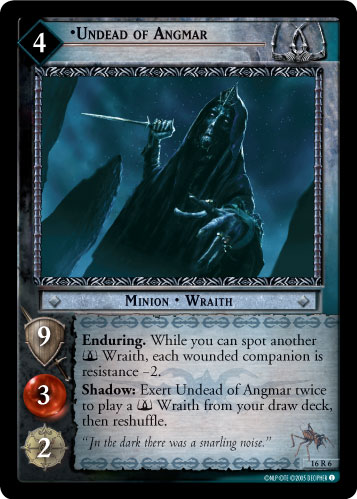 Undead of Angmar (16R6) Card Image