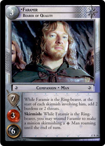 Faramir, Bearer of Quality (17R28) Card Image