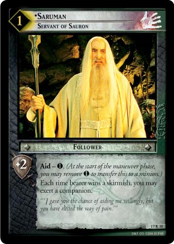 Lotr Tcg Wiki Saruman Servant Of Sauron 17r38