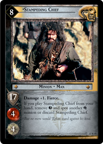 Stampeding Chief (17R49) Card Image