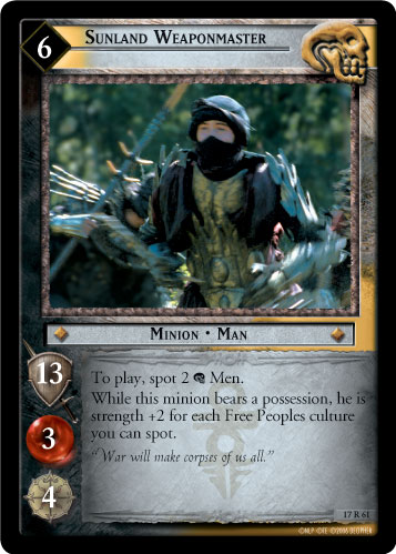 Sunland Weaponmaster (17R61) Card Image