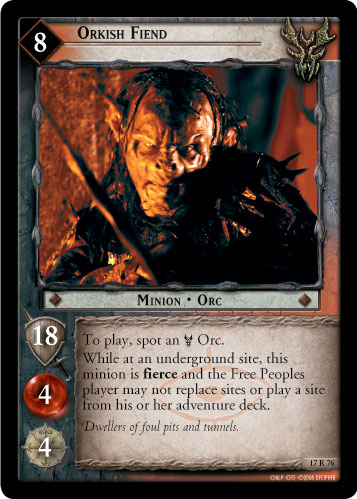 Orkish Fiend (17R76) Card Image