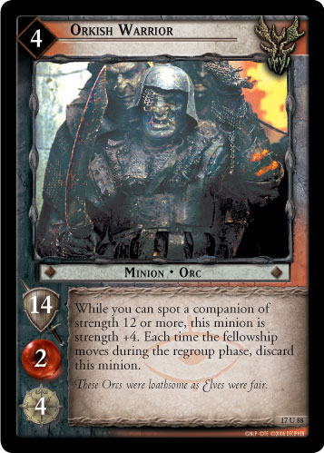 Orkish Warrior (17U88) Card Image