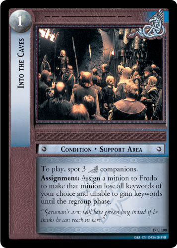 Into the Caves (17U100) Card Image