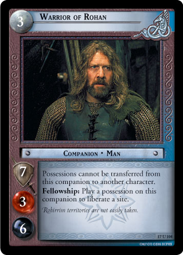 Warrior of Rohan (17U104) Card Image