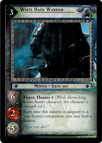 White Hand Warrior (17C136) Card Image