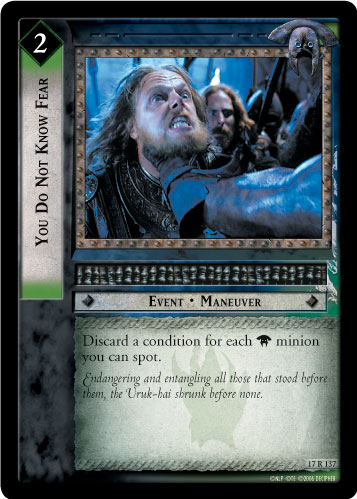 You Do Not Know Fear (17R137) Card Image
