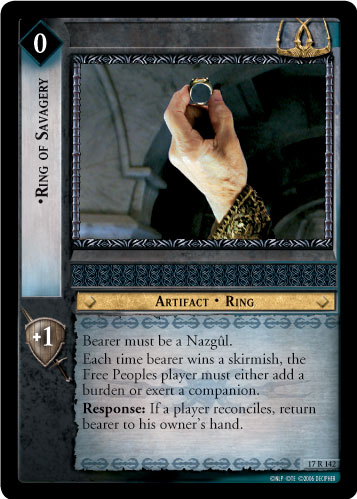 Ring of Savagery (17R142) Card Image
