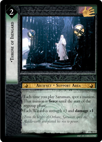 Throne of Isengard (F) (17RF9) Card Image