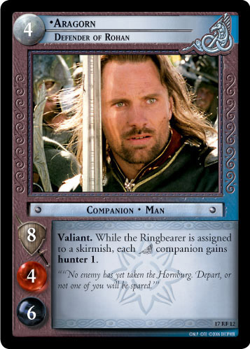 Aragorn, Defender of Rohan (F) (17RF12) Card Image