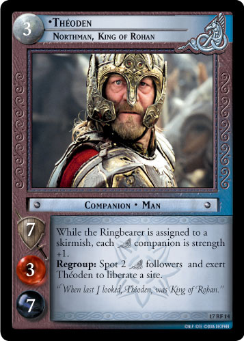 Theoden, Northman, King of Rohan (F) (17RF14) Card Image