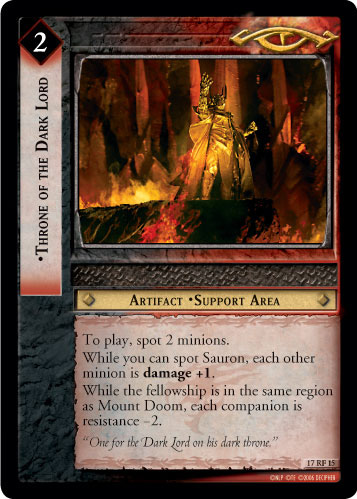 Throne of the Dark Lord (F) (17RF15) Card Image