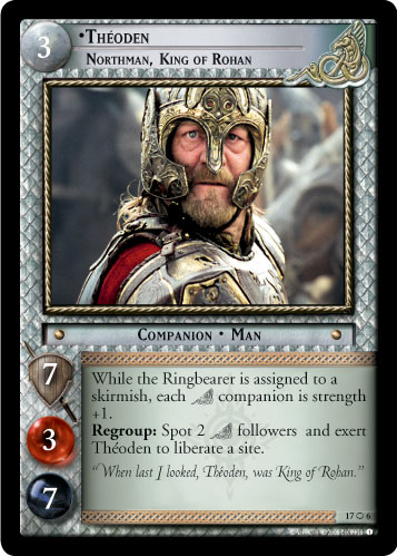 Theoden, Northman, King of Rohan (O) (17O6) Card Image