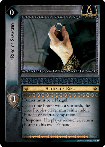 Ring of Savagery (O) (17O8) Card Image