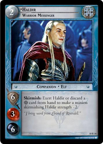 Haldir, Warrior Messenger (18R14) Card Image