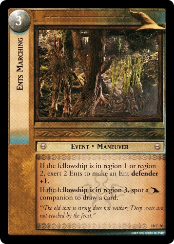 Ents Marching (18C20) Card Image