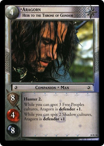 Aragorn, Heir to the Throne of Gondor (18R38) Card Image