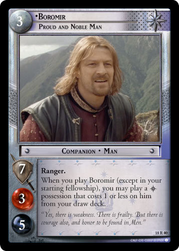 Boromir, Proud and Noble Man (18R40) Card Image