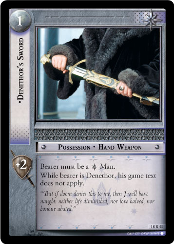 Denethor's Sword (18R43) Card Image