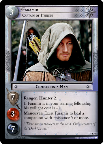 Faramir, Captain of Ithilien (18R48) Card Image