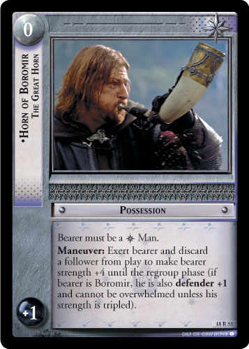Horn of Boromir, The Great Horn (18R53) Card Image
