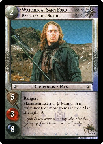 Watcher at Sarn Ford, Ranger of the North (18R59) Card Image