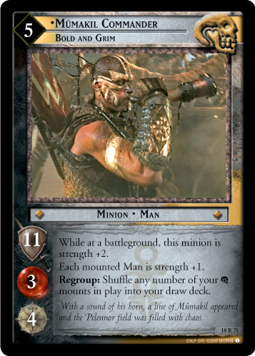 Mumakil Commander, Bold and Grim (18R71) Card Image