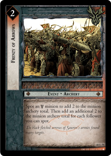 Frenzy of Arrows (18U79) Card Image